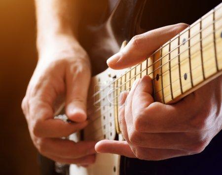 Guitar solo in the spotlight