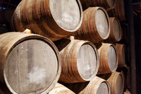 Port wine from the vineyards Douro Valley in Portugal aging in o