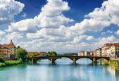 "Постер, картина, фотообои ""Вид на Понте алла Carraia через реку Арно, Флоренция"""