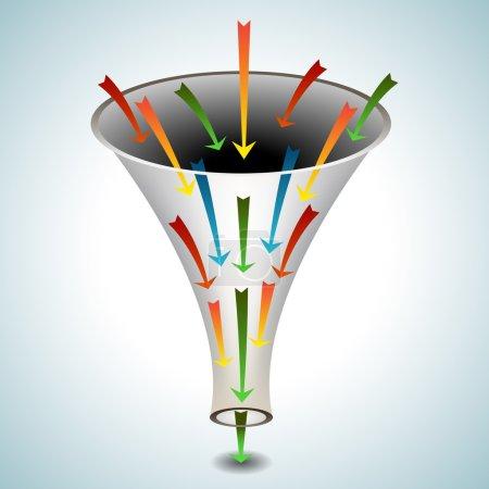 Merging Arrows Funnel Icon