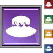 Tlačítko web rybářská Hat