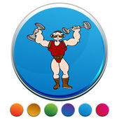 Strongman colorful  Button