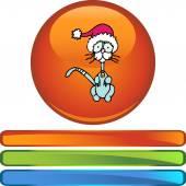 Skinny Christmas Cat web icon