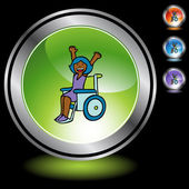 Disabled Girl button
