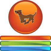 Running Dog web icon
