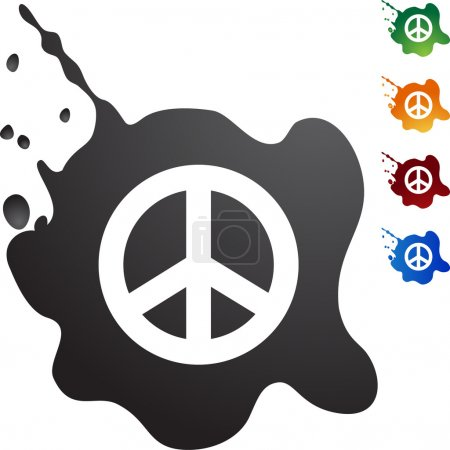 Peace sign web button