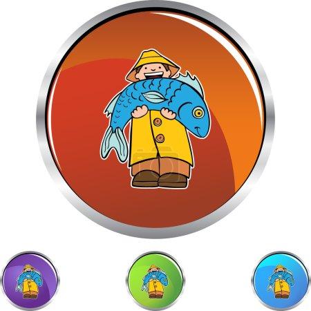 Fisherman Icon Button