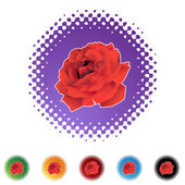 Rose web icon