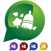 Sweeping Broom icon button
