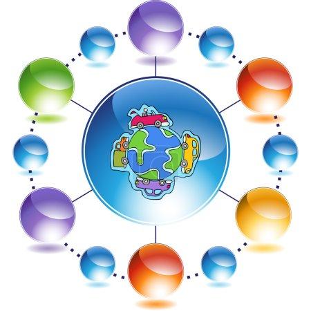 Car Globe web icon