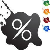 Percentage Sign web button