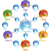 Food pyramid web button