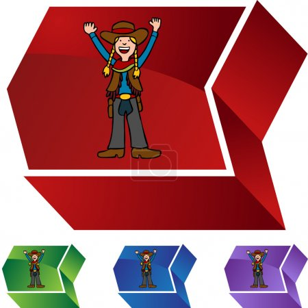 Cowgirl web icon