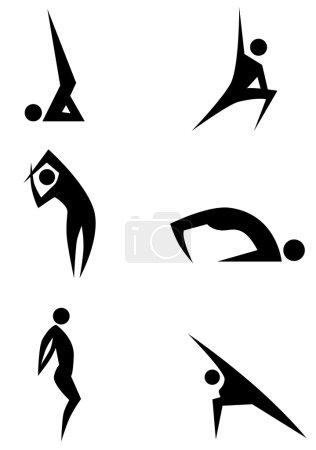 Yoga Stick Figure Set