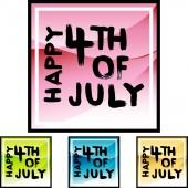 Happy Fourth July web icon
