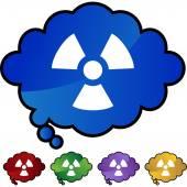 Radioactive Warning  web icon