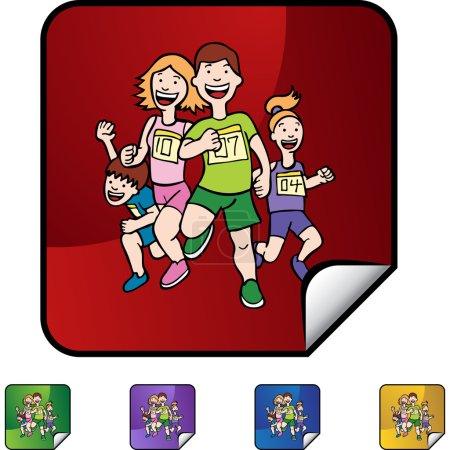 Family Running web icon