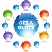 Get Quote sign web icon