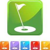 Golf flag web button