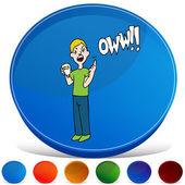 Blood Test Gemstone Button Set