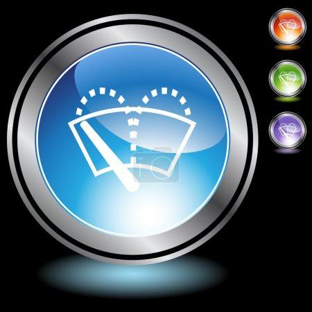 Illustration pour Essuie-glaces bouton web isolé sur un fond - image libre de droit