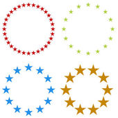 An image of a set of star icons in a round shape