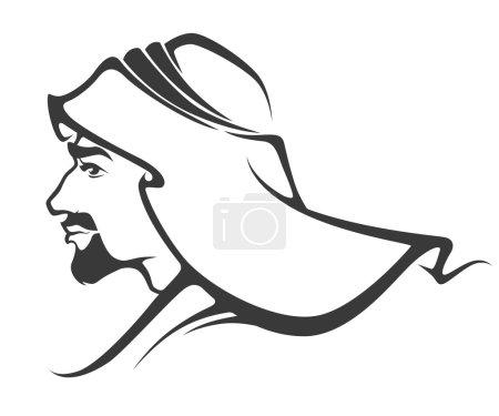 Handsome arabian man