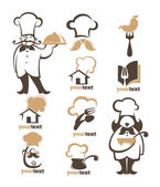 all for food vector icon symbols and logo collection