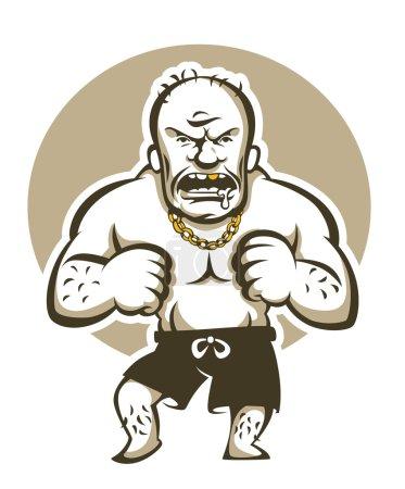 Very dangerous  man, cartoon vector illustration