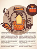 Vector handdrown background spices in bottle