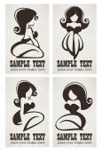 vector collection of pinup girls logo