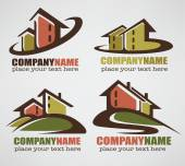 my little home vector collection of property logo and symbols