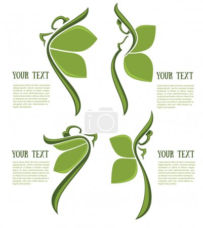 abstract women in different poses, vector organic collection