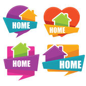 my little home vector collection of property symbols logo emb