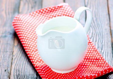 milk in white jug