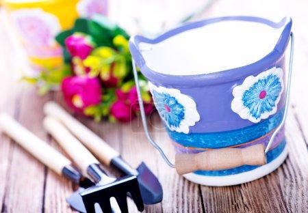 gardening utensil on a table