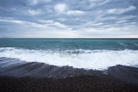 Photo for Scenic storm on the sea, sea and cloudy sky - Royalty Free Image