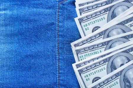 Money on denim