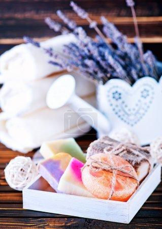 Color soap and lavender