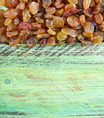 Sun-dried grape on a table