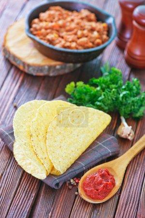 Tacos - in mexican yellow corn tortilla