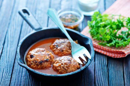 Meatballs with tomato sauce and spices