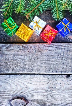 christmas presents on table