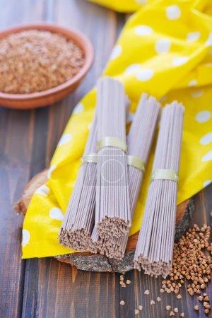 buckwheat noodles and buckwheat