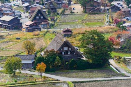 Historic Village of Shirakawa-go in autumn