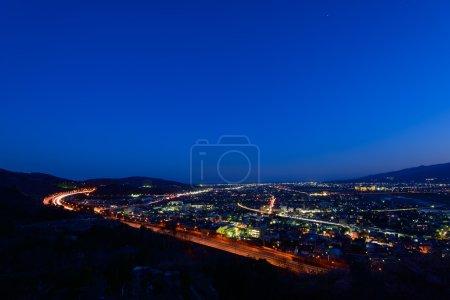 Night view at Seisho region, Kanagawa, Japan