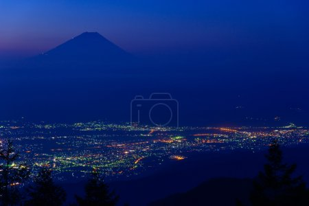 Landscape of Kofu and Mt.Fuji