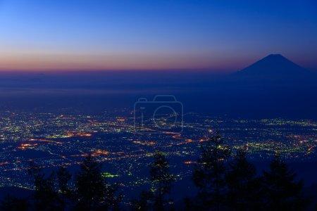 Landscape of Kofu and Mt.Fuji
