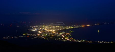 Night scene of Mutsu city