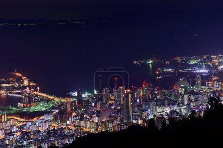 Kobe at night, View from the Kukuseidai of Mt.Maya